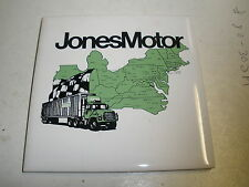 "Jones Motor Truck ceramic tile 4.25"" square tile"