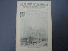 1924 Bauzeitung  3 / Köln Dom Teil 2 / Nürnberg Altersheim