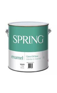 Spring 4L Gloss White Enamel Paint