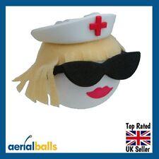 Cute Blonde Nurse Staff Sister Midwife Hospital Car Aerial Topper Ball Styling