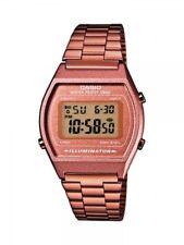 Casio Damenuhr Unisex Uhr Retro Rosé Digital Edelstahl-Armband B640WC-5AEF