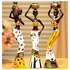 3Pcs African Black Woman Beauty Lady Decorative Statue Figurine Home Decor