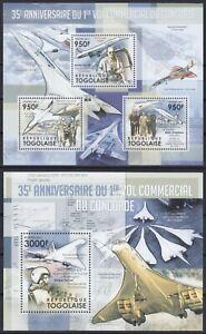 Togo  4257 - 4259 KB + Block 661 (4260) **, Concorde (22 ME)
