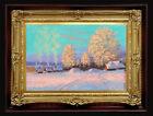 "ORIGINAL Oil Painting Handmade Arseni ~ CHRISTMAS 6"" X 4"" NO FRAME 2 REMBRANDT"