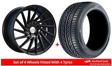 Alloy Wheels & Tyres 9.5x19 1AV ZX1 Black Matt + 2555019 Economy Tyres