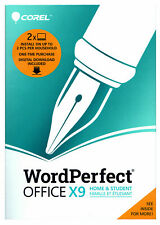Corel WordPerfect Office X9 Home & Student Wpox9Hsefmbam - New Retail Box