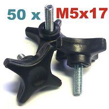 Kunststoff//Stahl stabile Ausführung Hand Schrauben M4x6 mm 50 Stück schwarz