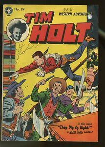 TIM HOLT #19 FINE- 5.5 1950 MAGAZINE ENTERPRISES
