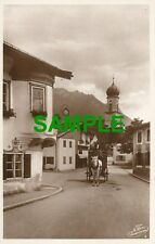 SCARCE POSTCARD OBERAMMERGAU PASSION PLAY - A STREET IN THE VILLAGE - 1930