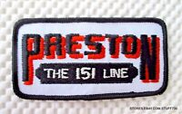 """PRESTON TRUCK EMBROIDERED SEW ON PATCH THE 151 LINE TRUCKING UNIFORM 4"""" x 2"""""""