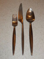 GOURMET SETTINGS STAINLESS FLATWARE STEELGRASS PATTERN 3 MISC PIECES