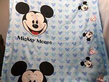 Disney ?Homemade? Twin Flat Sheet Bedding Blue Mickey Mouse Fabric 62� X 79.5�