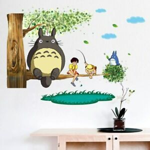 Cartoon Totoro  Wall Stickers Lovely Totoro and Friends Wall Decals Home Decor