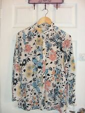 ladies floral shirt/blouse,size 12, smart,ideal for summer/holidays