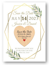Second Ave Personalised Save The Date Wooden Heart Fridge Magnet With Card