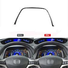 Carbon Fiber Speedmeter Upper Decorative Trim Cover For Honda Civic 8th 2006-11