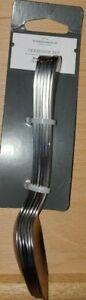 Set Of 6 Olisa Stainless Steel Satin Teaspoons - Threshold