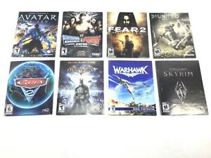 Lot of 8 French Manuals for PS3 Batman Avatar Warhawk Hunted & More Great Cond
