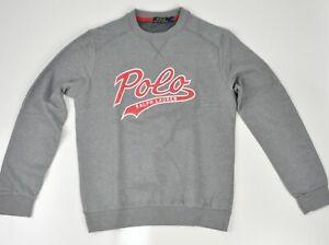 Polo Ralph Lauren Crew Neck Logo Jumper in Grey