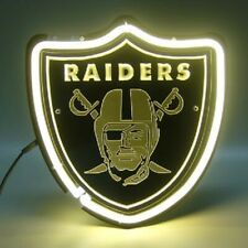 """Oakland Raiders Shield 3D Carved Neon Sign Beer Bar Gift 14""""x10"""" Light Lamp"""