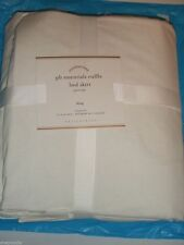 $115 POTTERY BARN PB Bed Skirt 15 Inch Drop Juponnage 100% cotton King NEW