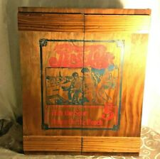 Vintage Pepsi Cola Wood Crate Caddie Cabinet Hits The Spot Down On The Beach