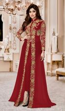 Party Rot Bollywood Designer Indian Kameez Salwar Ethnisch Anarkali Abendkleid