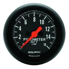 "Auto Meter Boost/Pyrometer Gauge 2654; Z-Series 0 to 1600°F 2-1/16"" Electrical"
