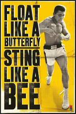 Float Like a Butterfly MUHAMMAD ALI METAL TIN SIGN WALL PLAQUE GYM MAN CAVE
