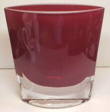 "Badash Handmade 8"" Red Crystal Vase Signed By Jack Badash"