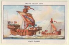 British King's Shippes c1200 60+ Y/O Ad Trade Card