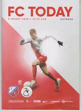 Programme / Programma FC Utrecht v Sparta Rotterdam 08-03-2020