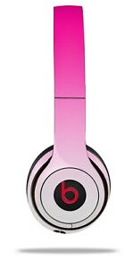 Skin Beats Solo 2 3 Smooth Fades White Hot Pink Wireless Headphones NOT INCLUDED