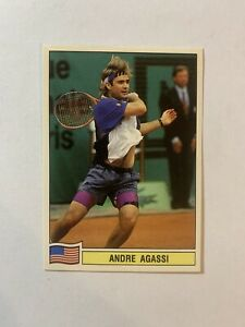 ANDRE AGASSI - Rookie, Panini TENNIS 1994. VERY Rare Sticker. MINT. ATP TOUR #38