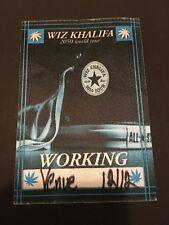 WIZ KHALIFA RAP 2050 WORLD TOUR FABRIC BACK STAGE PASS PITTSBURGH