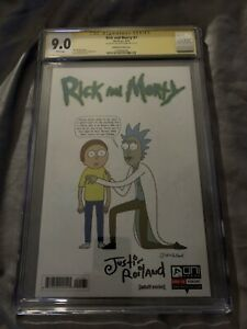 Rick And Morty Comic #1 1:50 Variant Signed by Justin Roiland CGC 9.0 SS Oni