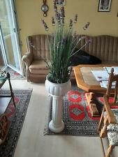 Blumensäule 2-teilig weiß (ca. 82 cm hoch)
