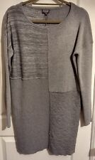 Phase Eight 8 PATCHED Henri Knit Grey Dress Knitted M Black Friday