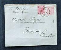 1894 Elbogen Austria Postal Stationary Cover to Oldenburg Germany Overprint