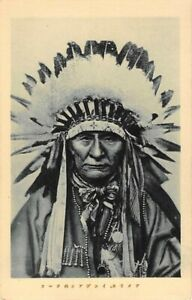 INDIAN CHIEF WITH BUFFALO BILL'S WILD WEST SHOW ON JAPAN VISIT, SOUV PC 1907-14