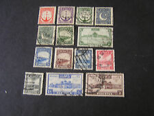 PAKISTAN, SCOTT # 24-28(5)+28-35(6)+37-39(3),TOTAL14 1948-57 DEFINITIVE ISS USED