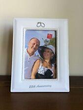 Happy 25th Silver Wedding Anniversary Photo Frame/Gift