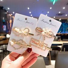 Fashion Pearl Hairpins Clips Rhinestone Duckbill Clip Women's Hair Accessories