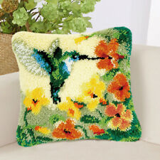 Flower & Bird Latch Hook Rug Kits Pillow Cushion Cover Making 430*430mm