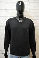 THE BRIDGE Uomo Maglione Taglia 50 Pullover Cardigan Felpa Sweater Lana Grigio
