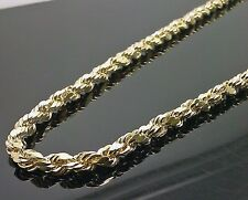 "New Real 10K Yellow Gold Men's Rope Chain Necklace 20"" Inches 5mm,cuban,franco N"