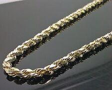 "10K Yellow Gold Men's Rope Chain 30"" 12.2gm 5mm Franco, Italian"