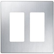 Cw-2 Ss Lutron Screwless Wall Plate Stainless Steel 1Pk