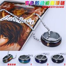 NEW Death Note L Finger Ring Chameleon Metal Necklace Pendant Anime Cosplay AU
