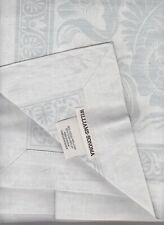 williams sonoma Vintage Floral Jacquard tablecloth 70 x 108 Easter blue silver